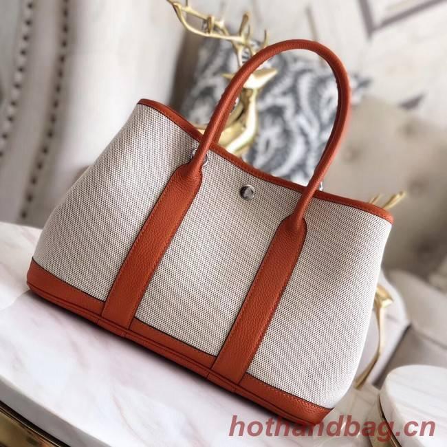 Hermes Garden Party 36cm Tote Bags Original Leather H3698 Orange