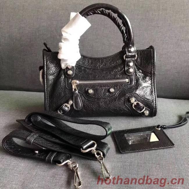 Balenciaga The City Handbag Calf leather 382567 black