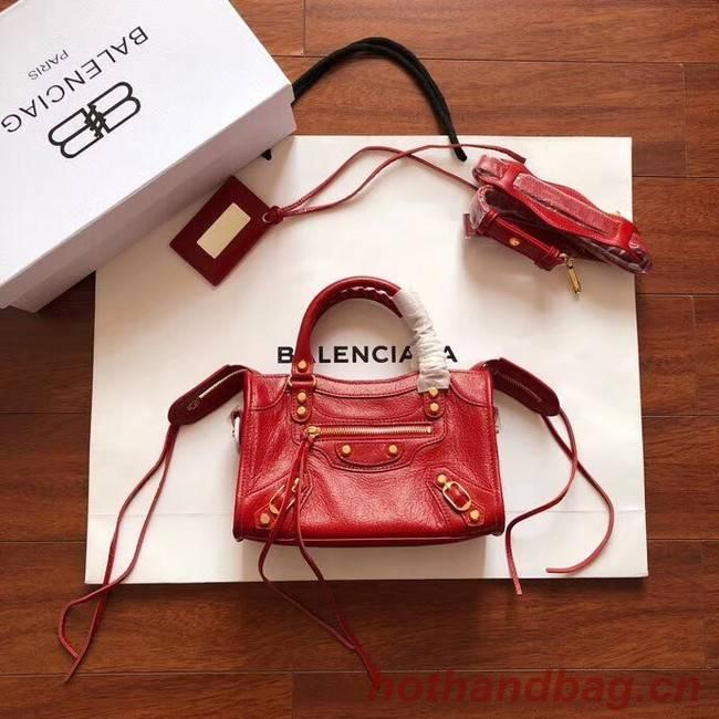 Balenciaga The City Handbag Calf leather 382567 red