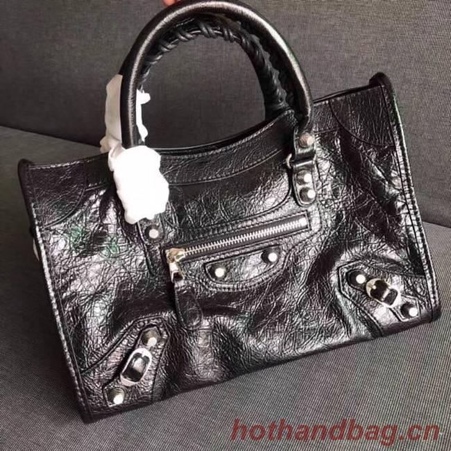 Balenciaga The City Handbag Calf leather 382568 black