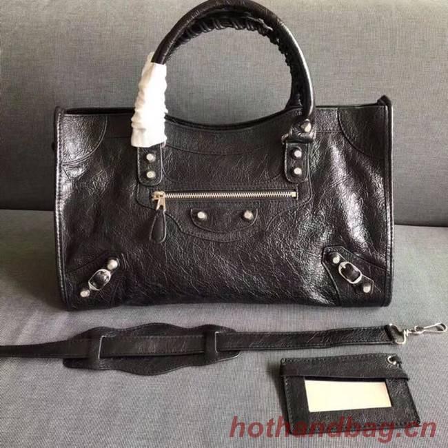 Balenciaga The City Handbag Calf leather 382569 black