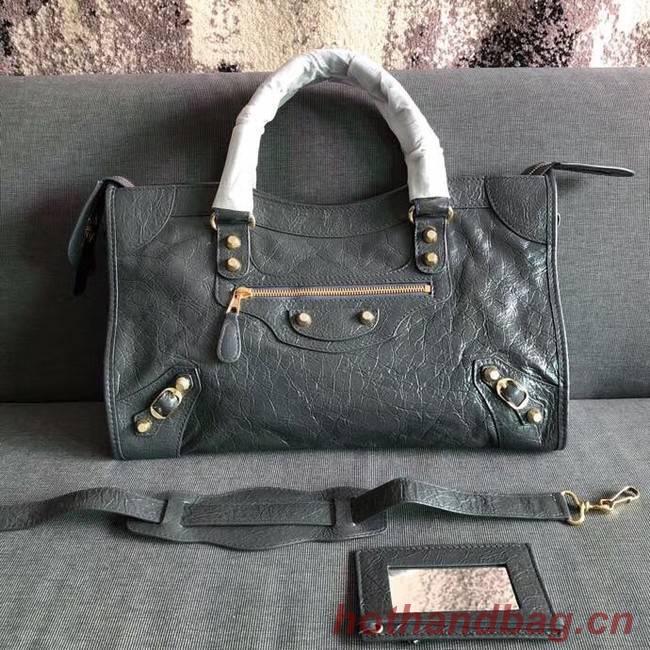 Balenciaga The City Handbag Calf leather 382569 grey