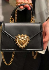 Dolce & Gabbana SICILY Bag Calfskin Leather 4155 black