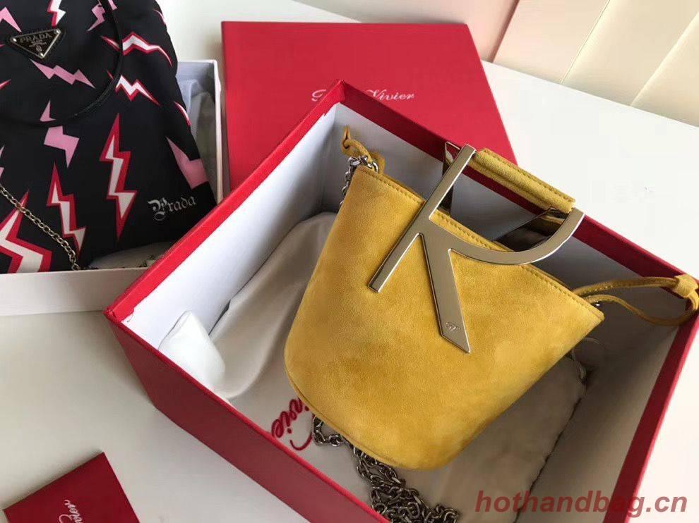 Roger Vivier Bucket Bag Original Leather RV2069 Yellow