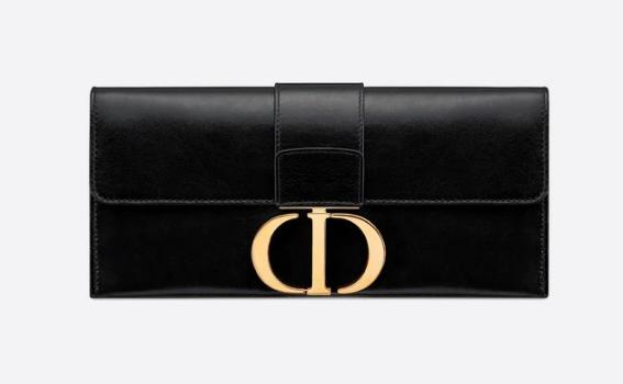 Dior 30 MONTAIGNE sheepskin leather Clutch bag M9206 black