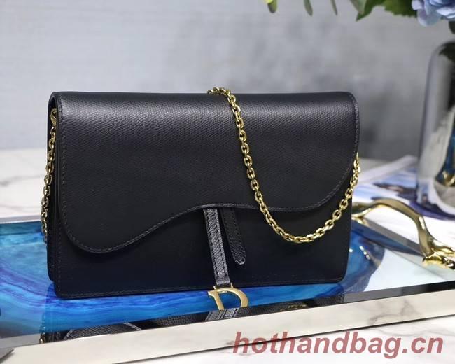 Dior SADDLE DIOR OBLIQUE Chain Clutch bag S5614 black