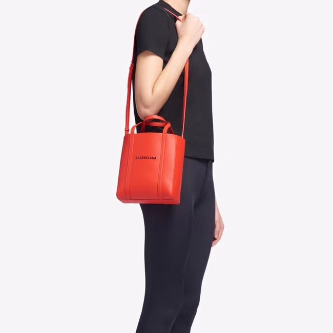 Balenciaga Original Leather Mini Shopper Bag 6696 Red