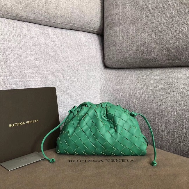 Bottega Veneta Sheepskin Weaving Original Leather BV3693 Green