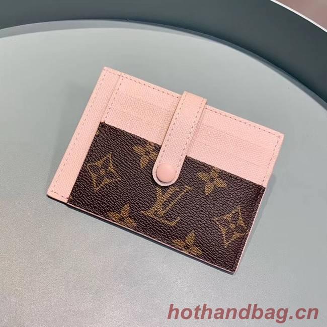 Louis Vuitton Monogram Canvas Card Holder M61730 Pink