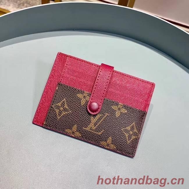 Louis Vuitton Monogram Canvas Card Holder M61730 Purple