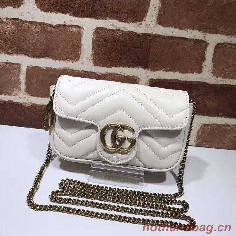 Gucci GG Marmont super mini bag 574969 white