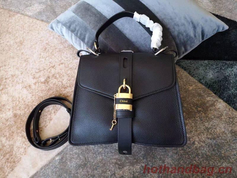 Chloe Original Buckskin Leather Lock Bag 3S088 Black
