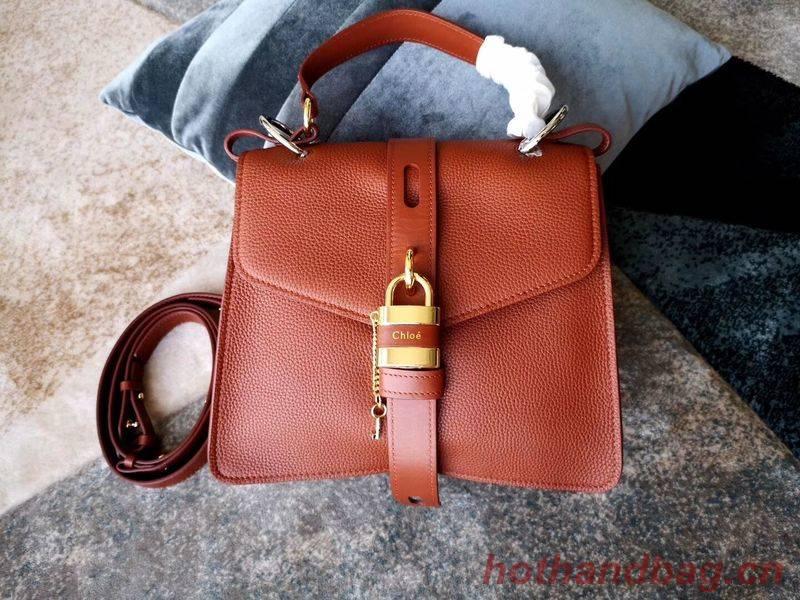 Chloe Original Buckskin Leather Lock Bag 3S088 Brown