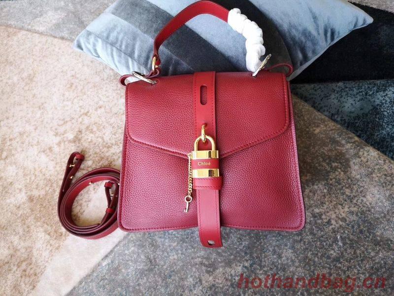 Chloe Original Buckskin Leather Lock Bag 3S088 Red