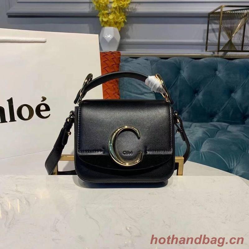 Chloe Original Calfskin Leather Top Handle Small Bag 3S030 Black