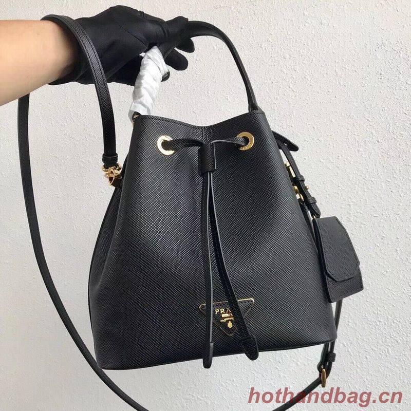 Prada Galleria Saffiano Leather Bag 1BE032 Black