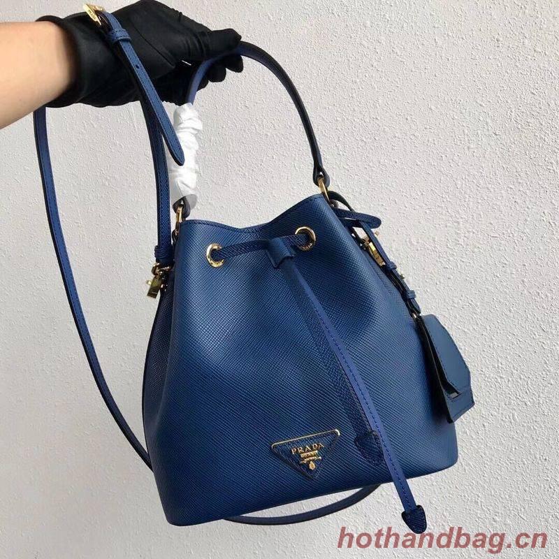 Prada Galleria Saffiano Leather Bag 1BE032 Blue