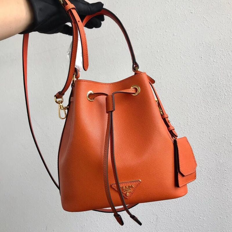 Prada Galleria Saffiano Leather Bag 1BE032 Orange
