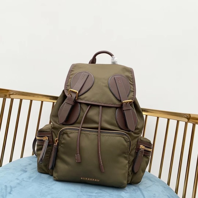 Burberry Large Backpack Fabric BU3699 green
