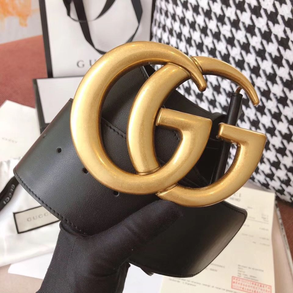 Gucci Original Calf Leather 7CM Belt 68884C Black