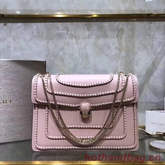 BVLGARI Medium Shoulder Bag Calfskin Leather BG22890 pink