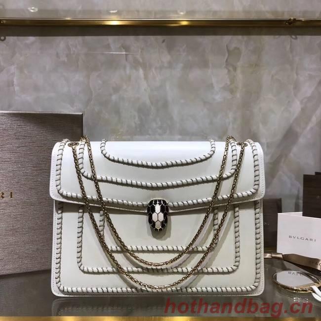 BVLGARI Medium Shoulder Bag Calfskin Leather BG22890 white