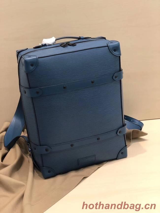 Louis vuitton original SOFT TRUNK Backpack M44752 blue