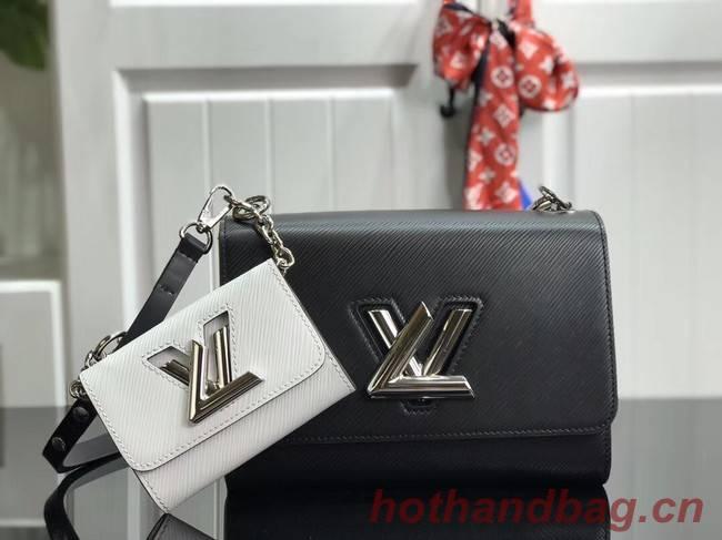 Louis vuitton original epi leather TWIST MM M50280 black&white