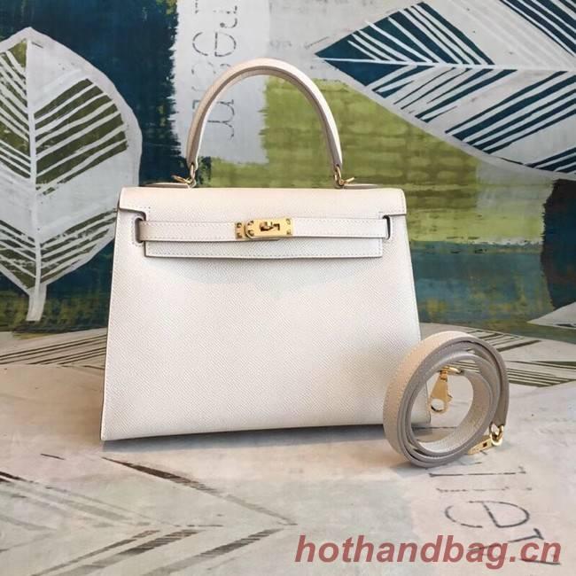 Hermes original Kelly Epsom Leather KL32 white