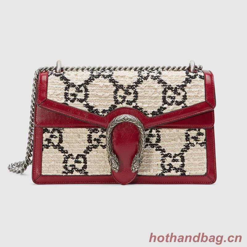 Gucci Dionysus GG Original tweed Shoulder Bag  400249 white