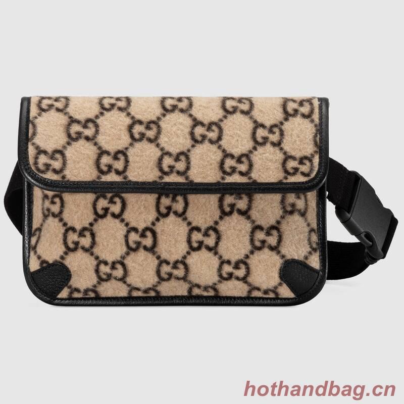 Gucci GG wool waist bag 598181 black