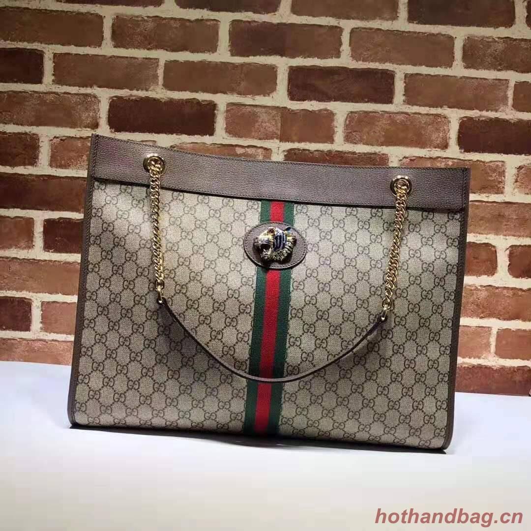 Gucci Rajah large tote 537219 Brown