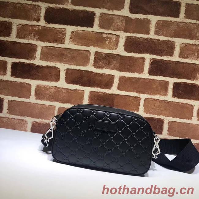 Gucci GG Original Leather  Messenger Bag 574886 black