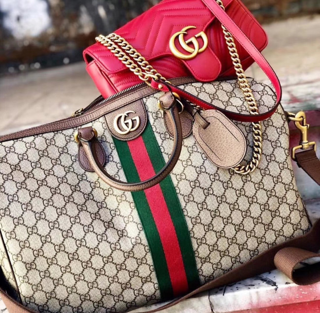 Gucci Ophidia GG big carry-on duffle 547959 brown