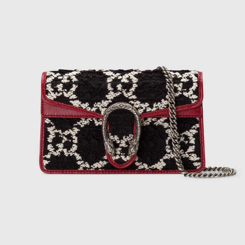 Gucci Dionysus Super Mini Shoulder Bag 476432 black