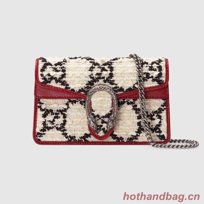 Gucci Dionysus Super Mini Shoulder Bag 476432 white