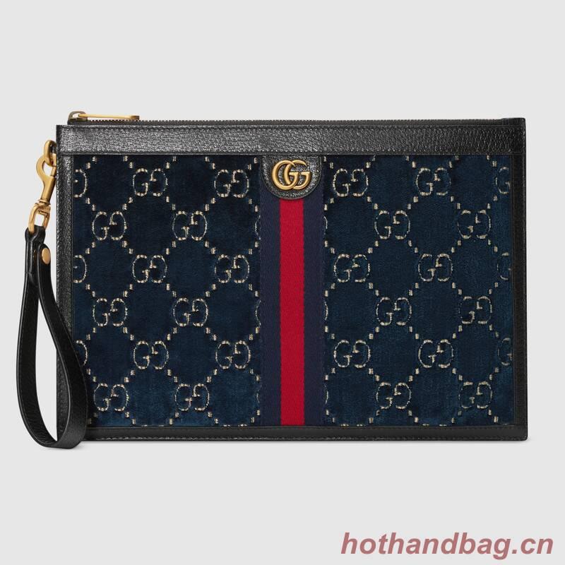 Gucci GG velvet Clutch bag 575371