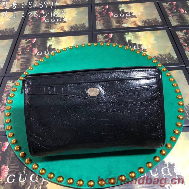 Gucci GG Original Leather Clutch bag 575991 black