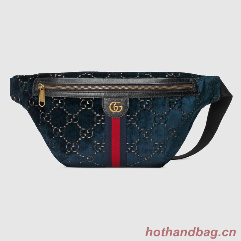 Gucci GG velvet waistpack 574968 red blue black