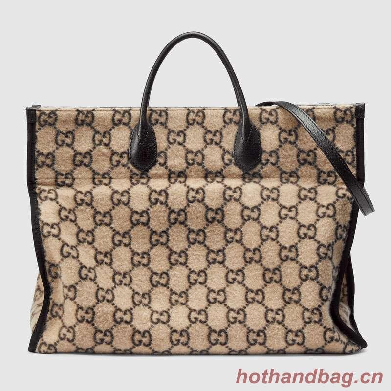 Gucci GG wool shopping bag 598169 white