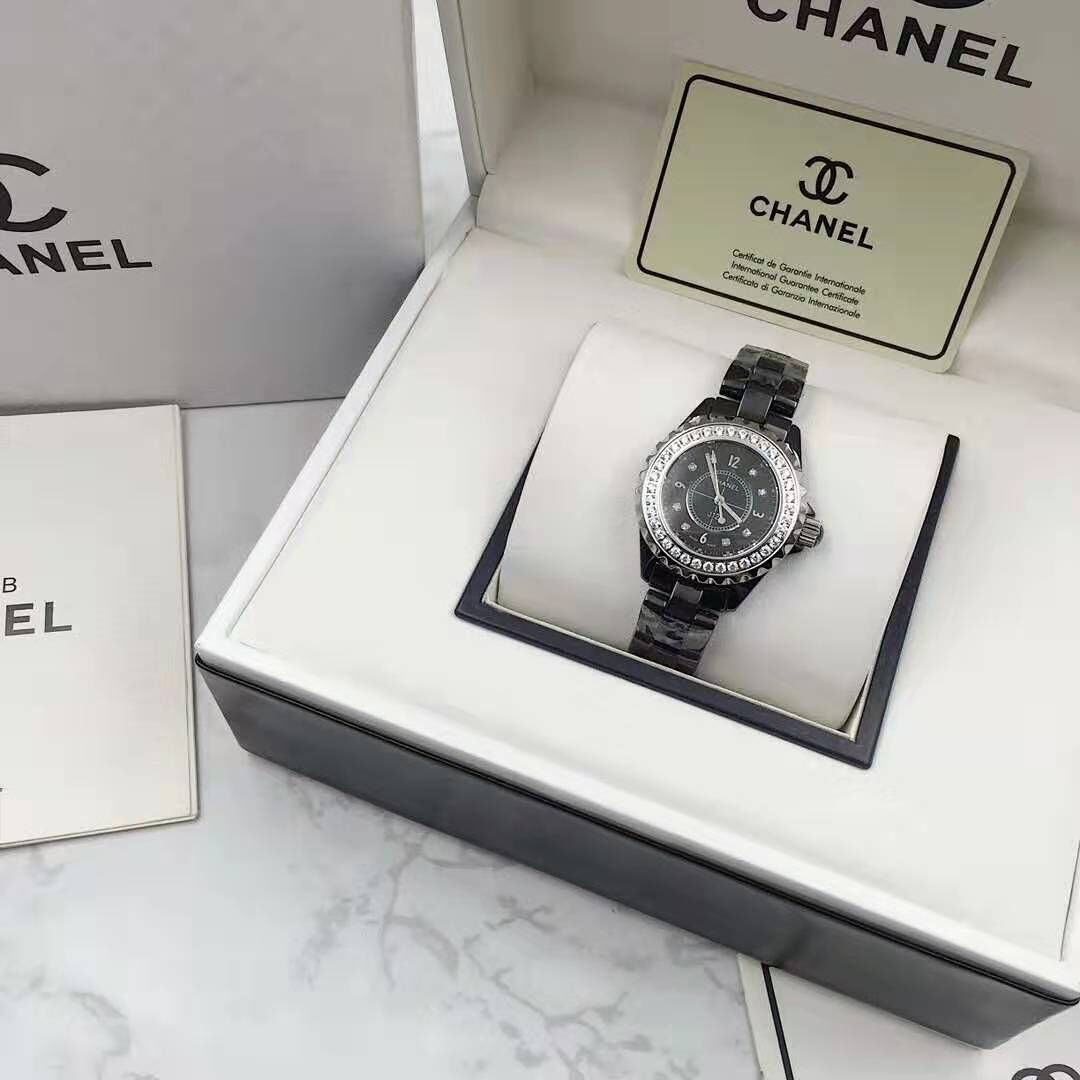 Chanel Diamond Watch CH2369 Black