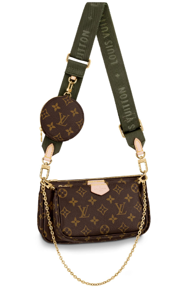 Louis Vuitton Monogram Canvas Original Leather M44823 Blackish green