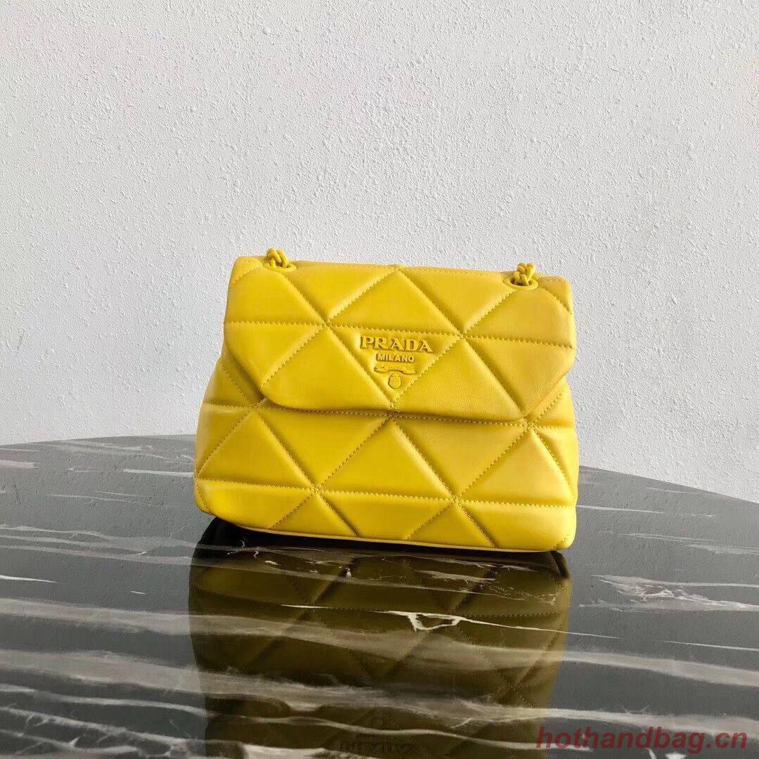 Small Prada Spectrum shoulder bag 1BD233 Yellow