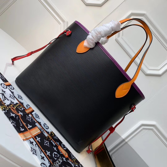 Louis Vuitton Original Neverfull Epi Leather MM M54185 black