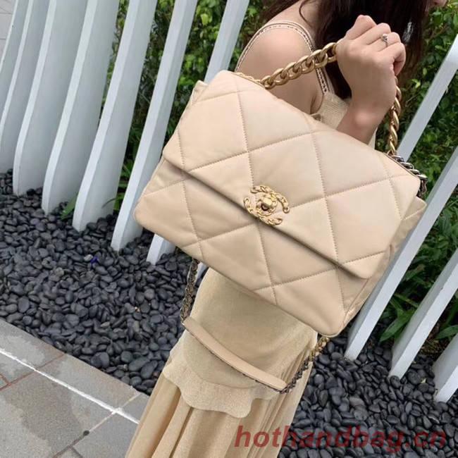 Chanel 19 flap bag AS1161 Cream