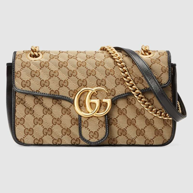 Gucci GG Marmont small shoulder bag 443497 black