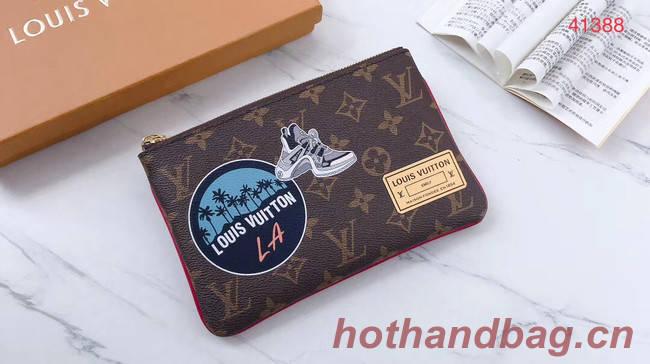Louis Vuitton Original Monogram Canvas Zipper Clutch bag M41388