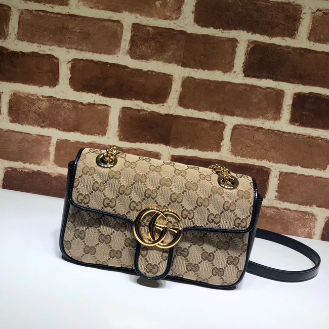 Gucci GG Marmont small shoulder bag 446744 black