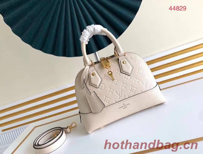 Louis Vuitton Original Monogram Empreinte NEO ALMA BB M44866 white