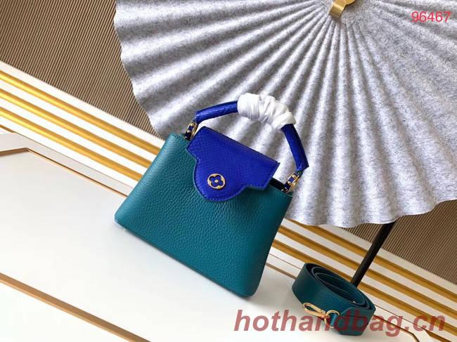 Louis Vuitton Original Taurillon leather CAPUCINES BB M95509 blue